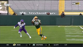 Packers' A.J. Dillon tests positive for COVID-19