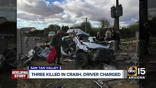 Three teens killed in crash