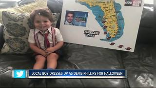 Local boy dresses up as Denis Phillips for Halloween - Video