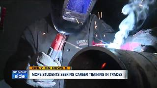 More students turning to trade industry for career choices - Video