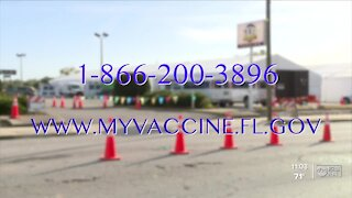 Tampa mass COVID-19 vaccine site opens Wednesday, will offer 3,000 vaccines daily