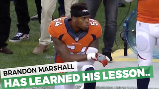This Football Player Kneeled For The Anthem Then Quickly Learned His Lesson - Video