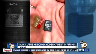 Man says he found hidden camera in Airbnb
