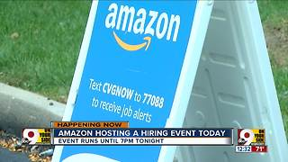 Amazon hosts hiring event today - Video