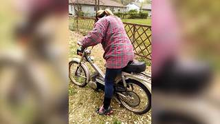 Woman Crashes A Motorcycle Into A Fence - Video