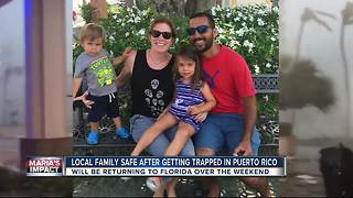 Family trapped in Puerto Rico to return home to Florida after Hurricane Maria - Video