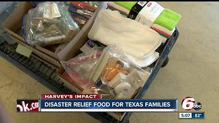 Indianapolis food bank sends items to Hurricane Harvey victims