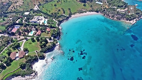 Drone footage captures most expensive house in Greece