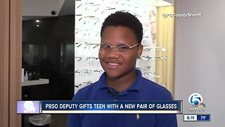 PBSO deputy gifts teen with a new pair of glasses
