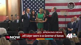 Jeff Colyer sworn in as Governor of Kansas - Video