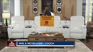 You can win a 'McDelivery Couch' from McDonald's