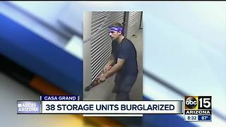 Police looking for man who burglarized Rodeo Storage in Casa Grande - Video