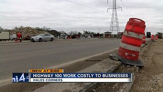 Highway 100 construction becomes costly to businesses