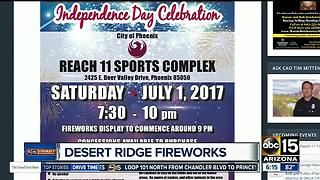 Fireworks festivities around the Valley