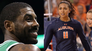Kyrie Irving HOOKING UP with Volleyball Baddie Breanna Barksdale? - Video