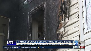 Family escapes burning home in Eldersberg