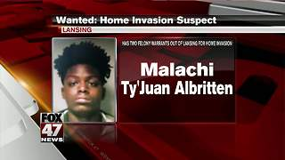 Lansing police looking for home invasion suspect