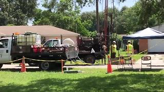 Land O' Lakes sinkhole cleanup process begins | Digital Short - Video