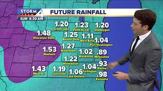 Rain redeveloping Friday afternoon - Video