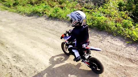 Two-Year-Old Masters Professional Motocross Track