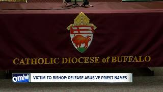 Victim to Bishop Malone: Release the names of abusive priests in Buffalo - Video