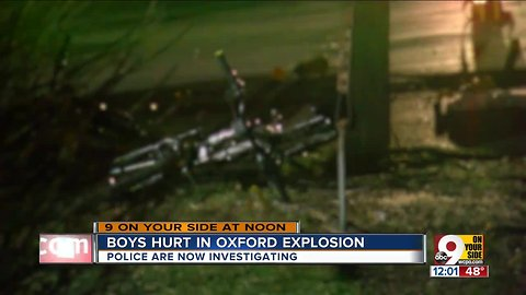 Boys hurt in Oxford explosion