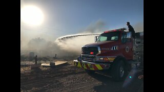 Multiple crews responded to massive fire in Pahrump