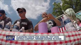 Clawson Hot Dog eating contest