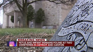 Dozens of fetuses, infant remains found after police raid on metro Detroit cemeteries - Video