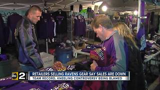 Retailers say Ravens gear sales are down this season - Video