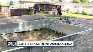 Couple contacts the Call for Action team after contractor doesn't finish pool - Video