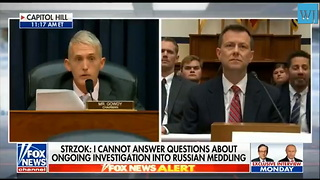 Gowdy Forces Strzok To Address Bias Against Trump While Serving on Mueller Investigation - Video