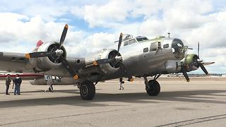 B-17 Bomber named the Madras Maiden arrives in Boise - Video