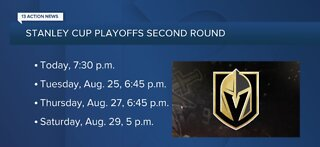 Vegas Golden Knights Round 2 playoff schedule