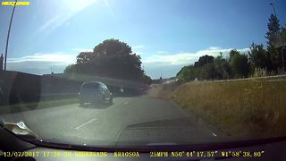 Undertaking Mini Cooper rolls after accident - Video