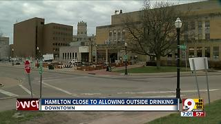 Hamilton close to allowing outside drinking - Video