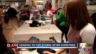 Heading to the stores after Christmas - Video