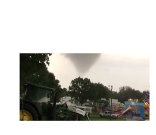 'Get Out!': Tornado Rips Through Linn County Fairgrounds - Video