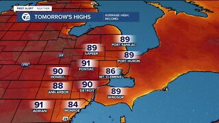Heading toward 90 tomorrow