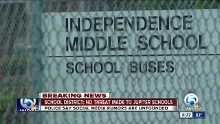 Palm Beach County School District says no threat made to Independence Middle School