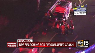DPS searching for a person after crash