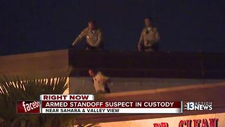 Armed man on roof taken into custody - Video