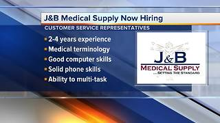 Workers Wanted: J&B Medical Supply now hiring - Video