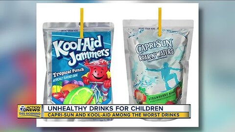 These are among the most unhealthy drinks for children