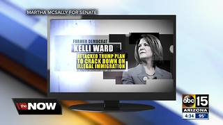 Fact check: McSally ad hits Kelli Ward as soft on illegal immigration - Video