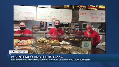 "Buontempo Brothers Pizza in Bel Air says ""We're Open Baltimore!"""