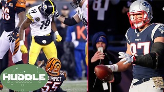Should Gronk's Suspension Be LONGER Than JuJu Smith Schuster's? - The Huddle - Video