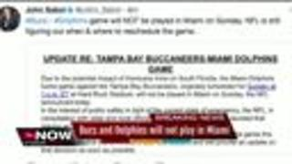Bucs-Dolphins game moved from Miami due to Irma - Video