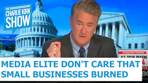 Media Elite Don't Care That Small Businesses Burned
