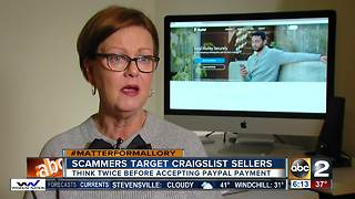 Scammers use PayPal's trusted reputation to trick Craigslist sellers - Video